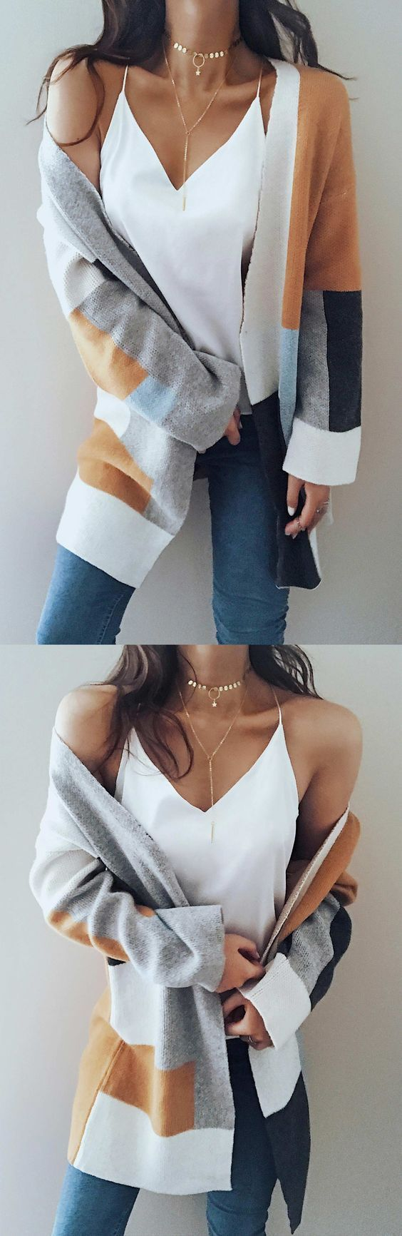 Loving this sweater! Also loving the necklaces. #winter #fashion #women