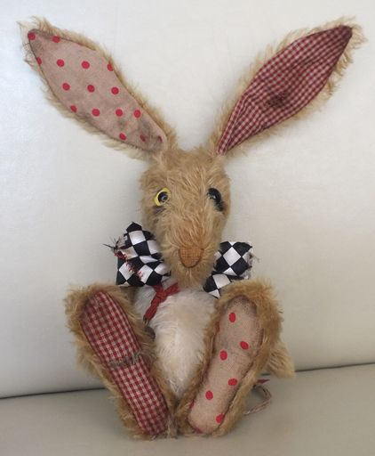 """""""Mr Marvellous"""" the well loved Mad March Hare. By Ragtail n Tickle."""