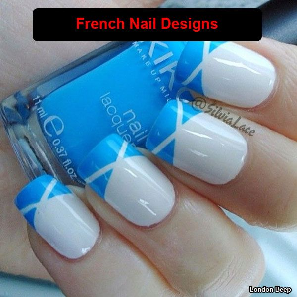 There are so many types of nail designs are available for girls. London Beep choose new and uniq 28 beautiful french nail designs photos and ideas.