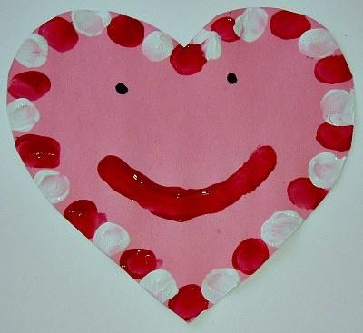 Thumbprint Heart Valentine's Day Craft