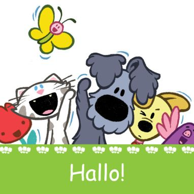 Woezel en Pip en hun vriendjes zeggen hallo.- Greetz