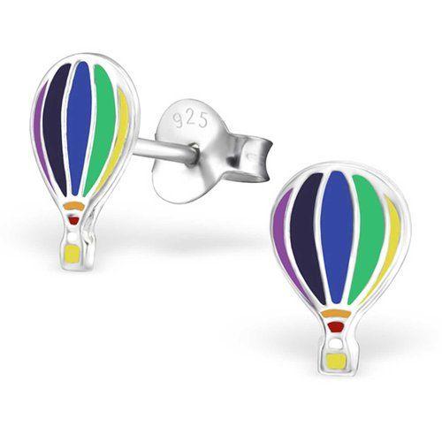 SL-Collection Ohrringe Kinderohrringe Luftballon 925 Silber