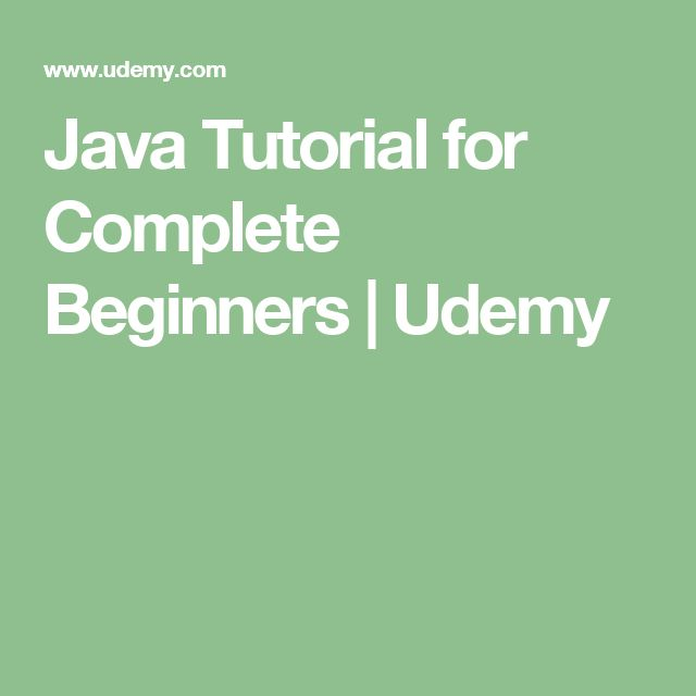 Java Tutorial for Complete Beginners | Udemy | Coding