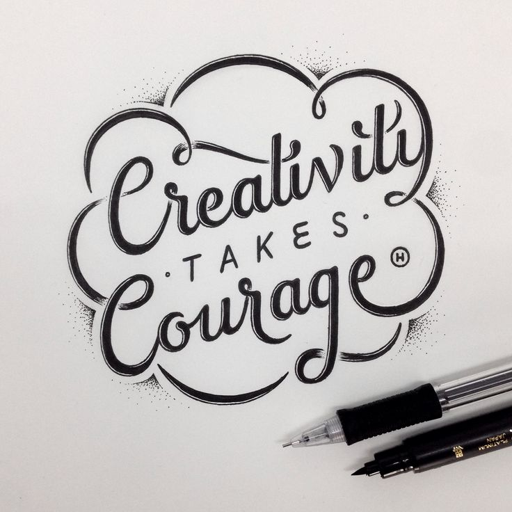 Creativity take courage typography ©Anthony Hos