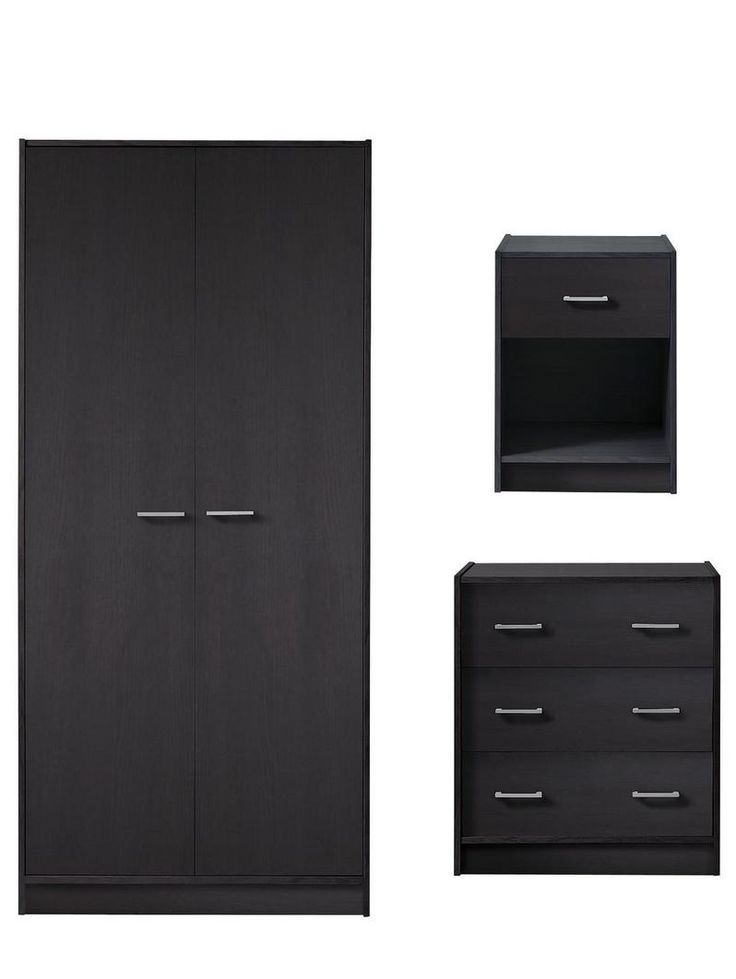 Boston Bedroom Furniture Set - Wardrobe + Chest of Drawers + Bedside Cabinet | very.co.uk