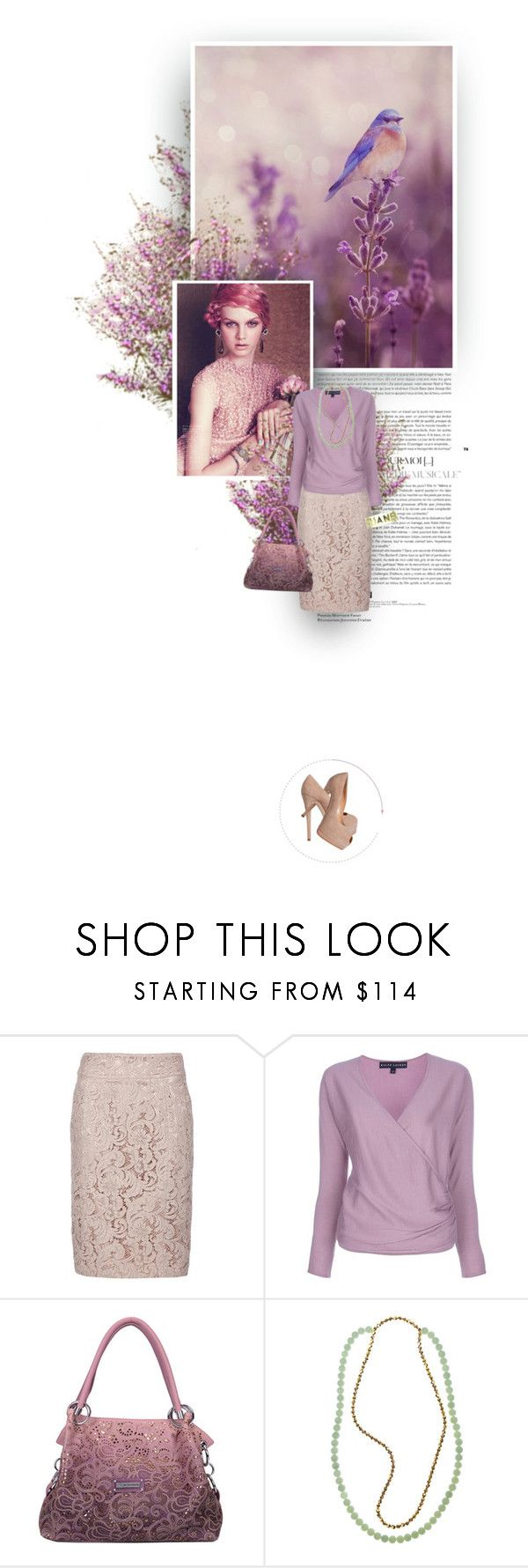 """""""Lavender Hues"""" by maude-lebowski ❤ liked on Polyvore featuring Trilogy, Burberry, Ralph Lauren Black Label, Giuseppe Zanotti, FLORIAN and Chanel"""