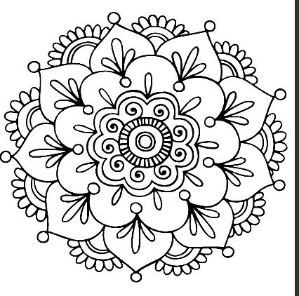 While great for coloring, I'd love to see this on a pillow or t-shirt.