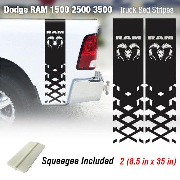 A Dodge Logo Ram Hemi 1500 2500 3500 4x4 Decals Truck Stickers Graphic Vinyl