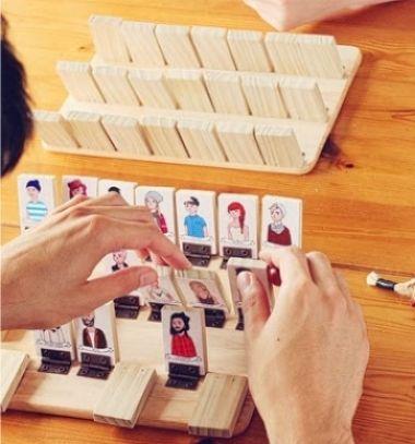 DIY Guess who  // Ki - kicsoda játék fából házilag (Guess Who) // Mindy - craft tutorial collection