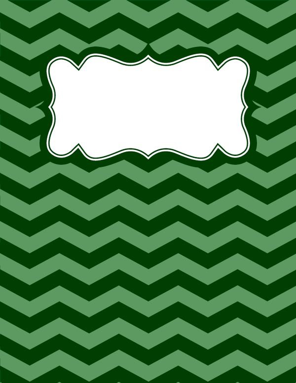 Free printable green chevron binder cover template. Download the cover in JPG or PDF format at http://bindercovers.net/download/green-chevron-binder-cover/