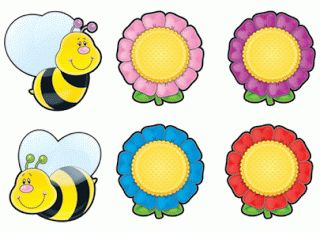 Bees Flowers Cut Outs