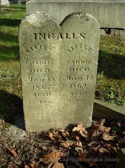 The graves of Laura's younger siblings Little Charles (aged 15 months) and Little Carrie (aged 11 months)