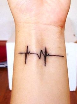 heartbeat line tattoo designs
