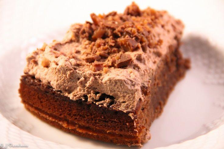 Kladdkaka Med Daimgrädde #receptkladdkaka #kladdkaka #kladdkakameddajmgrädde #dessert #dessertrecept #slankosund