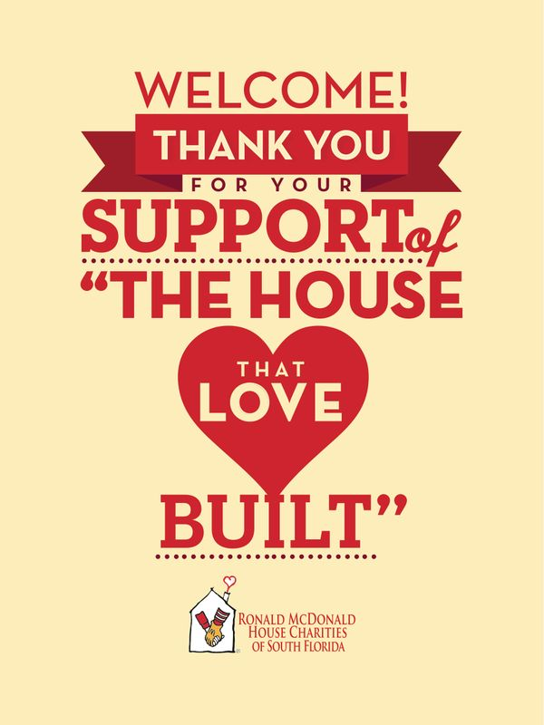 Ronald McDonald House Charities Thank You Poster Design By