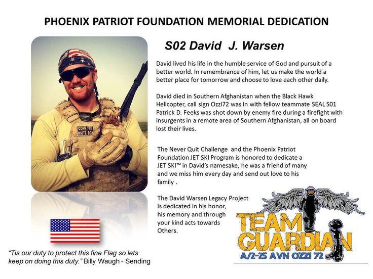 David Warsen is one of our Memorial jet Ski namesakes honoring his amazing life!