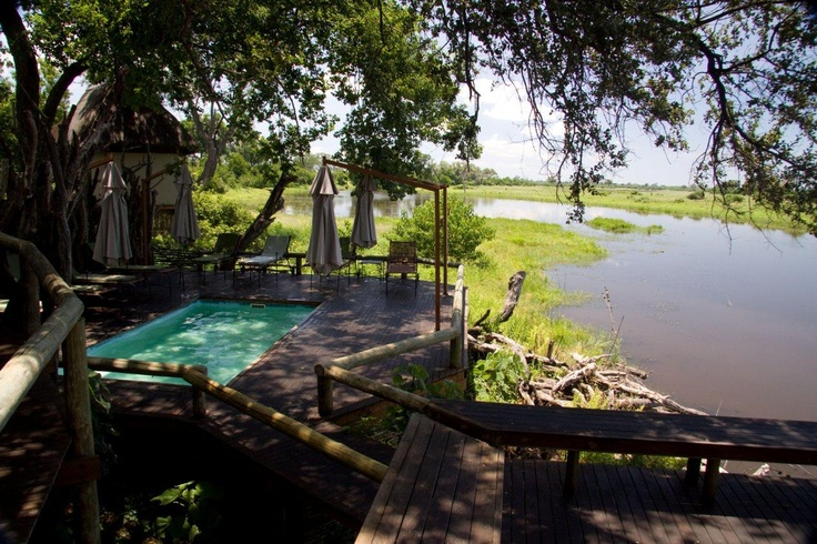 Welcome shade at Savuti Camp along the Savute Channel in the far north of Botswana