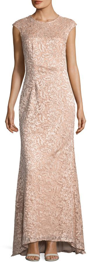 Carmen Marc Valvo Women's Embroidered Lace Gown Visit our site for Carmen Marc Valvo Sequined Lace Gown