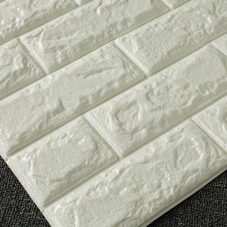 amazon-ling-adesivi-3d-creative-auto-modello-adesivo-carta-da-parati-carta-da-parati-camera-da-letto-decorazione-soggiorno-tv-sfondo-muro-mattoni-impermeabilizzazione-white