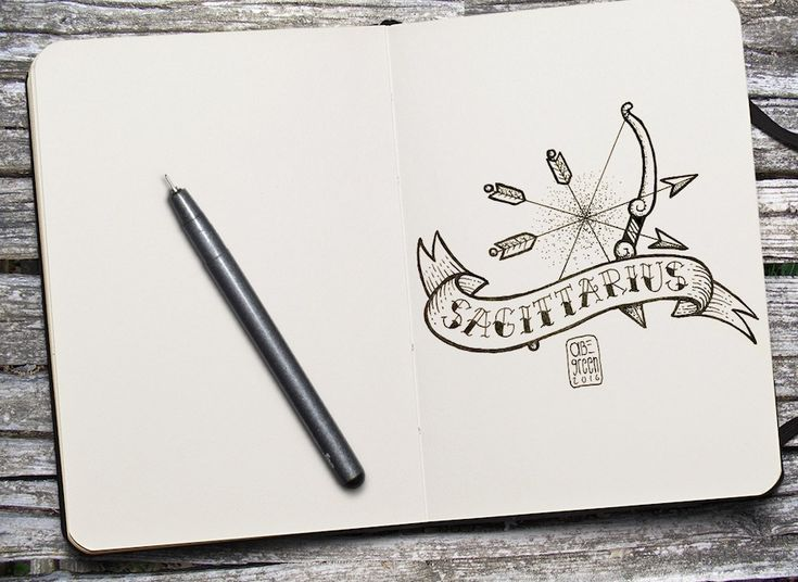 Old School Zodiac Signs Tattoos-Sagittarius