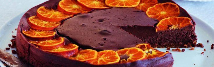 Baked Chocolate & Clementine Cheesecake Recipe   Sainsbury's Christmas Inspiration