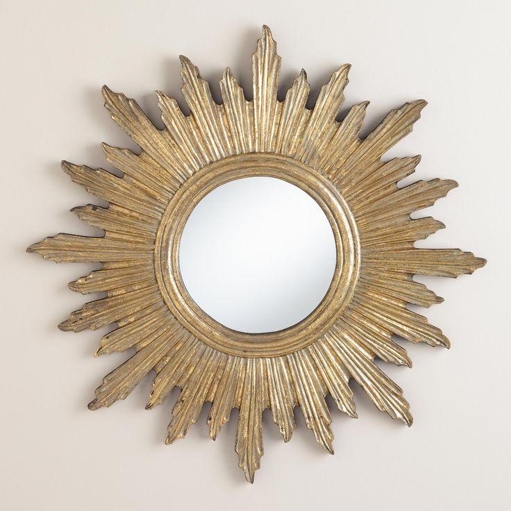 Large Antique Gold Leila Sunburst Mirror Antiques Other