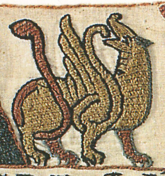 Bayeux tapestry animal laidwork patterns medieval
