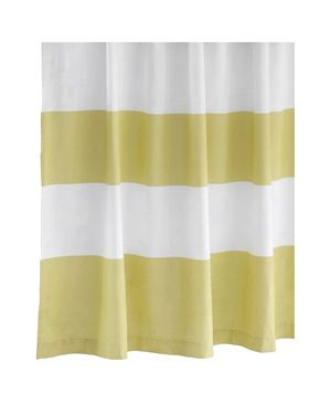 Stripe Shower Curtain - Citron westelm