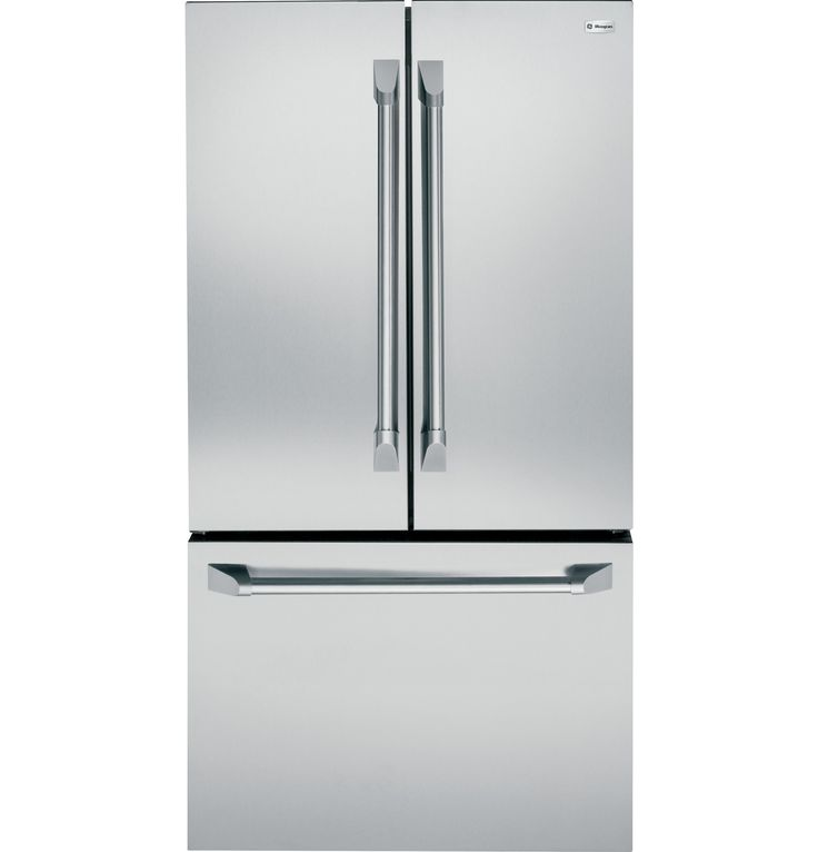ZWE23PSHSS - GE Monogram® ENERGY STAR® 23.1 Cu. Ft. Counter-Depth French-Door Refrigerator - The Monogram Collection