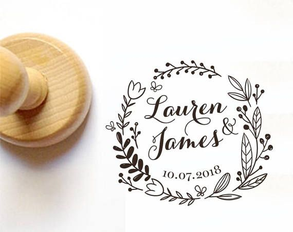 Ship from the U.S. PS51 Custom Save the Date Rubber Stamp Self-Inking Stamp Self Ink Stamp Personalized Address Stamp Wedding Stamp