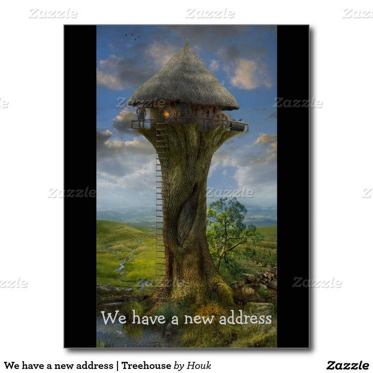 We have a new address | Treehouse Postcard