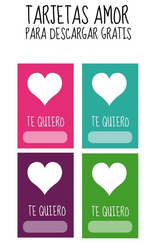 Dibujos para Colorear: Tarjetas de amor para imprimir