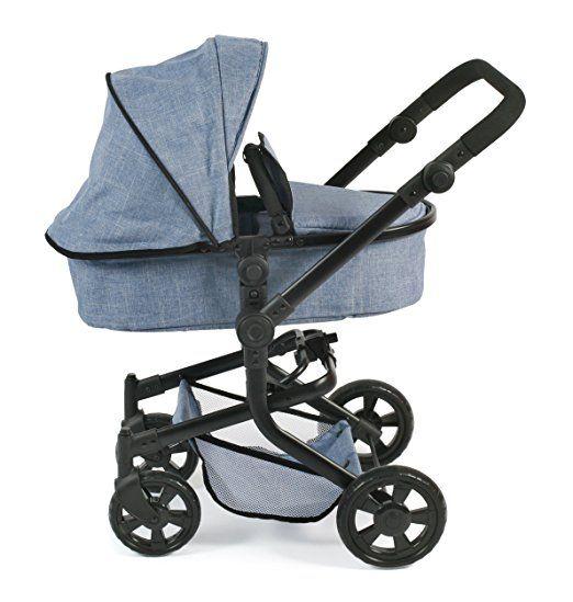 Bayer Chic 2000 595 50 Kombi-Puppenwagen Mika, Jeans Blue: Amazon.de: Spielzeug
