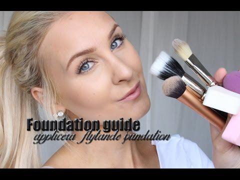 Foundation Guide - Applicera flytande foundation - Helen Torsgården