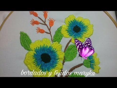 BORDADO FLOR DE MI JARDIN - YouTube