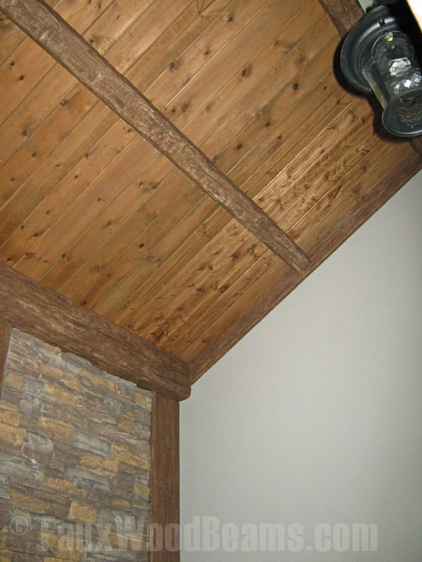 35 best images about fauxwood ceilings beams on for Faux wood siding