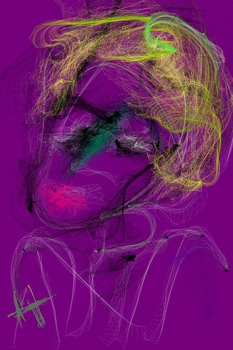 "One of my digital artworks called ""Artist""."