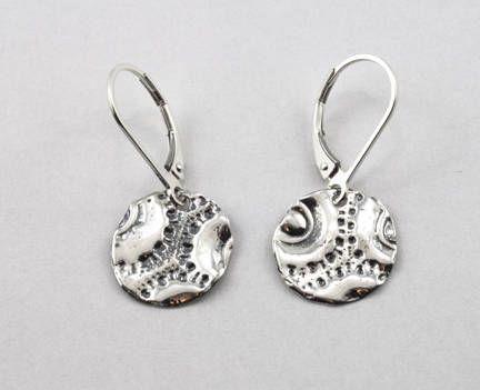 Boucles d'oreilles pendantes en argent sterling 925 /