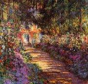 The Flowered Garden by Claude Oscar Monet