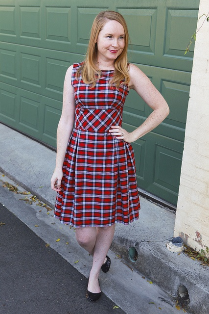 Day 9 Me Made May - Mad at the Plaid Dress (1960s McCall's 5815) {via Jennifer Lauren Vintage}