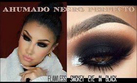 Maquillaje Ahumado en NEGRO paso a paso PERFECTO / Flawless SMOKEY EYE in BLACK | auroramakeup