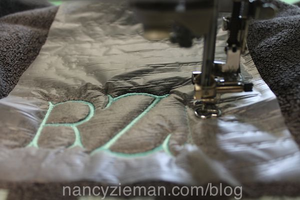 Nancy Zieman Embroider a Towel Monogram Eileen Roche Machine Embroidery in 6 Easy Lessons
