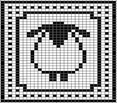 Sheep Chart for Washcloth pattern by Tammy Sanders