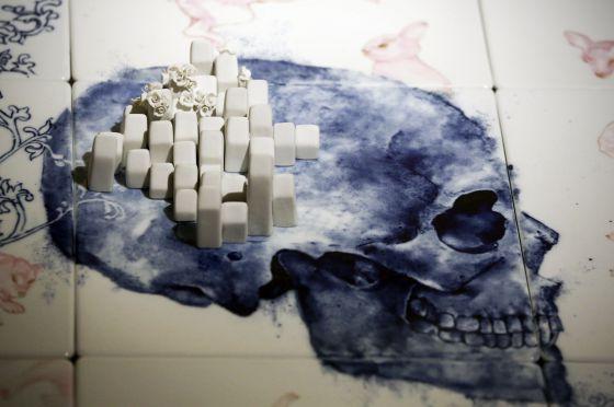 "Azulejos ""Life only One"" (Brain Map), Carissa Santoso / Art Design / MNAD"
