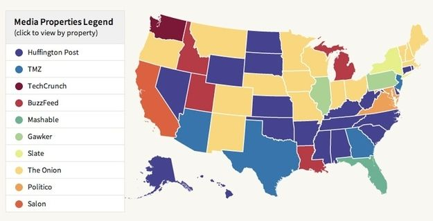 Maps Of The Most Popular News Outlets In Each State