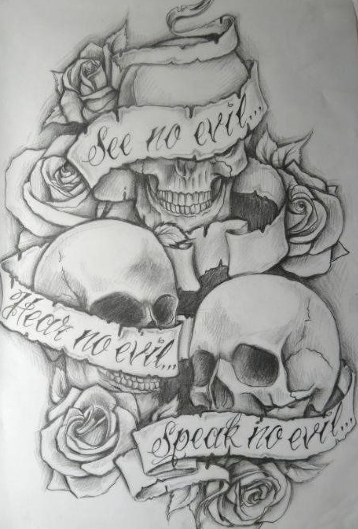 Skull tattoo idea.