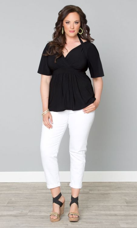 Plus Size Starlet Flutter Top at Curvalicious Clothes  #bbw #curvy #fullfigured #plussize #thick #beautiful #fashionista #style #fashion #shop #online www.curvaliciousclothes.com TAKE 15% OFF Use code: TAKE15 at checkout