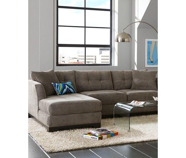 Elliot 2 Piece Chaise Sectional Sofa