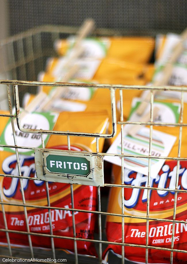 One of my personal favorites is the Fritos bags that you can just grab and go.  You fill the bag with the chili and toppings and eat right out of the bag! Set Up A Chili Bar