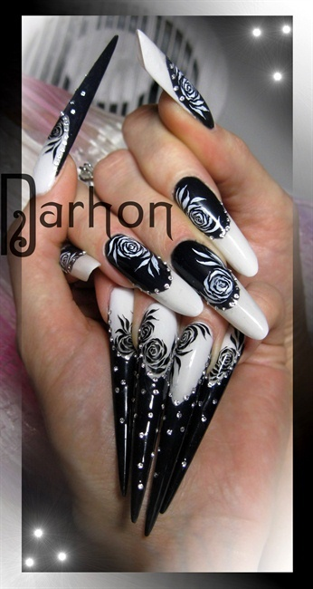 Nail Art Gallery - black and white